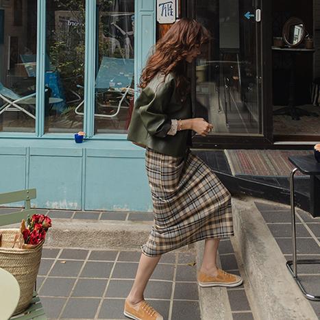 leelin-[[카키]디첼르 슈카라 레더자켓 [size:F(55~66)]]♡韓國女裝外套