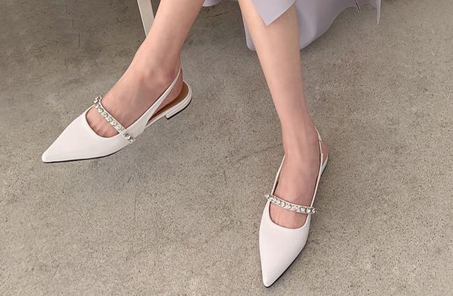 minsshop-2111 큐빅 스틸레토 슬링백♡韓國女裝鞋