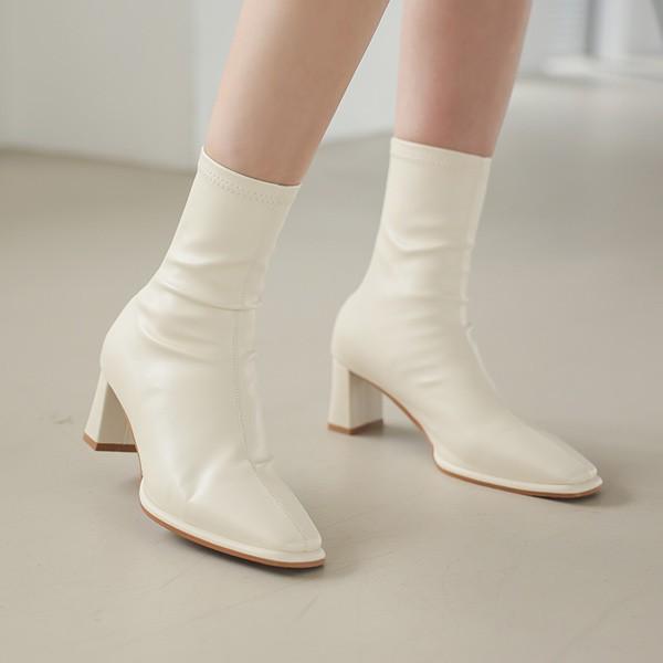 ode-[슬림앞코 스판 앵클부츠]♡韓國女裝鞋