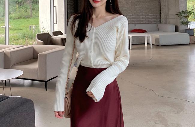 minsshop-(앞뒤로입는)돌먼 골지 울 가디건♡韓國女裝外套