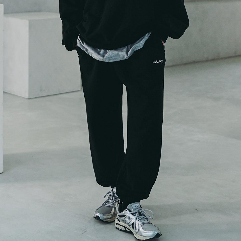 fairplay142-[[에즈카톤] 유니온 트레이닝 팬츠 블랙 KMLP6614]♡韓國男裝褲子