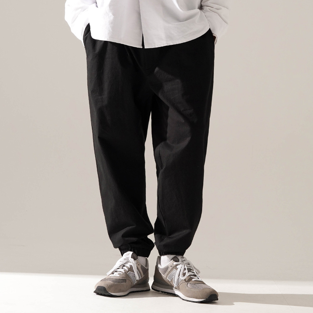 fairplay142-[[티떠블유엔] 부스 조거팬츠 블랙 JELP3399]♡韓國男裝褲子