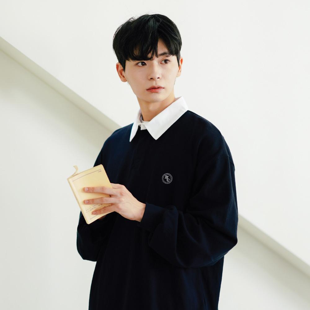 fairplay142-[[페플]하비클럽 럭비 긴팔티 다크네이비 KYLT1333]♡韓國男裝上衣
