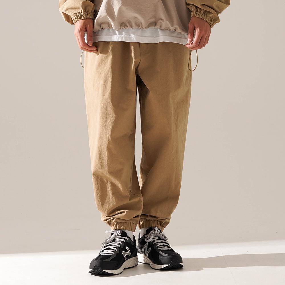 fairplay142-[[티떠블유엔] 부스 조거팬츠 베이지 JELP3399]♡韓國男裝褲子