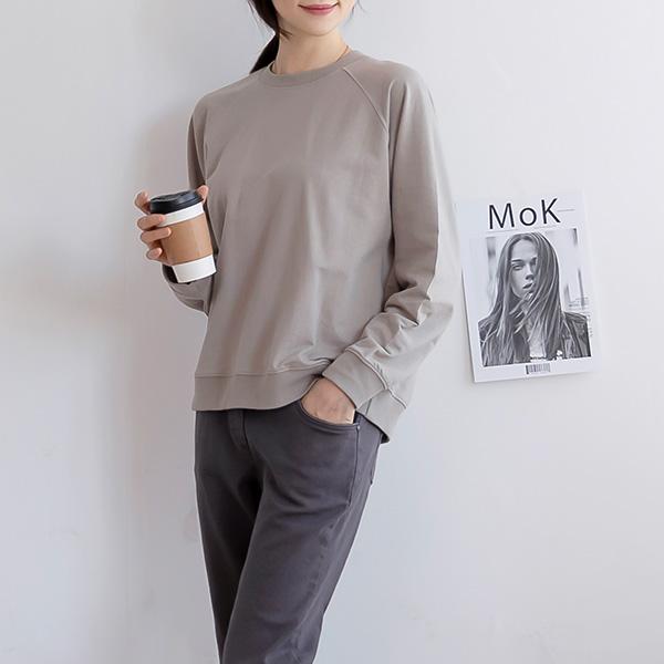 misscandy-[no.21024 뒷핀턱 나그랑 루즈핏맨투맨]♡韓國女裝上衣