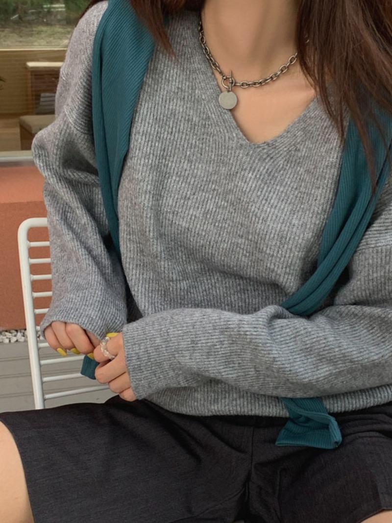 mollymanon-Kellin V-neck knit_nt♡韓國女裝上衣