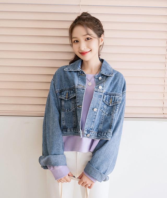 kikiko-대박핏감크롭데님자켓♡韓國女裝外套