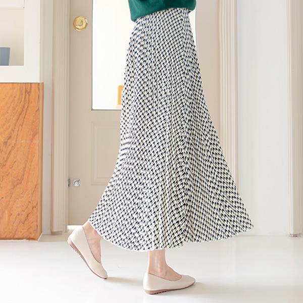 misscandy-[no.21017 하운드체크 플리츠 밴딩스커트]♡韓國女裝裙