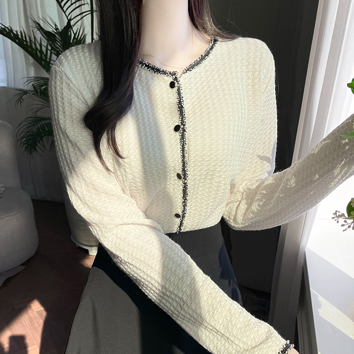 myfiona-블러드 수술 트위드띠라인 가디건 a1826 - 러블리 로맨틱 1위 쇼핑몰 피오나♡韓國女裝外套