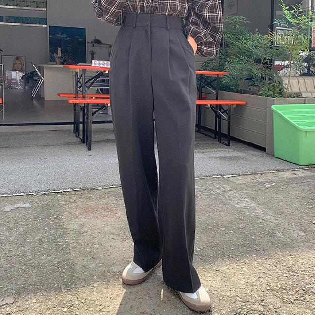 cherryville-[스텝바이스텝 와이드슬랙스]♡韓國女裝褲