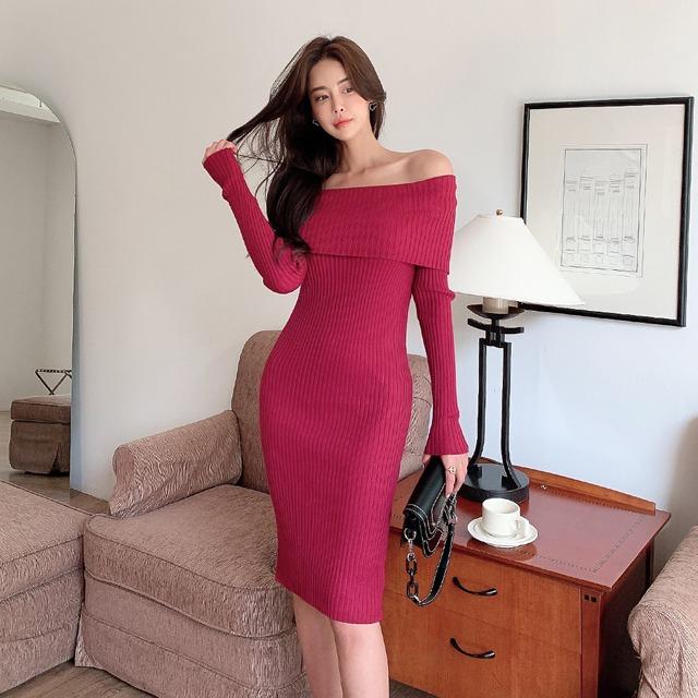 sweetglam-놀리아 오프숄더 원피스♡韓國女裝連身裙