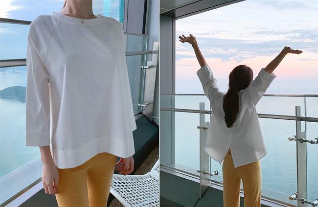 minsshop-두잇 뒷트임 티셔츠 (주문폭주!)♡韓國女裝上衣