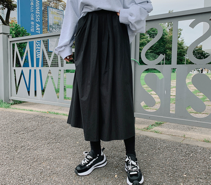 lylon-버터링밴딩롱스커트♡韓國女裝連身裙