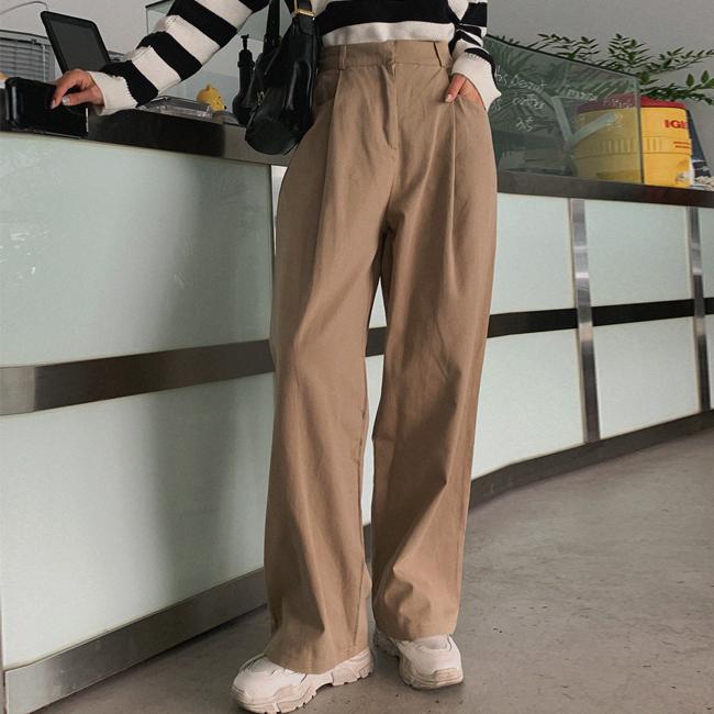 cherryville-[고민고민하지마 와이드면팬츠]♡韓國女裝褲