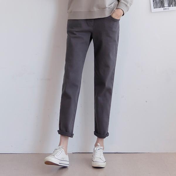 misscandy-[no.21025 절개라인 배기핏 밴딩팬츠]♡韓國女裝褲