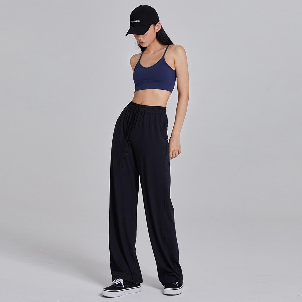 skullpig-마일드 와이드팬츠 블랙♡韓國瑜伽女裝褲