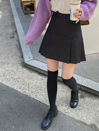 jstyleshop-[아엔블 플리츠 팬츠스커트]♡韓國女裝褲