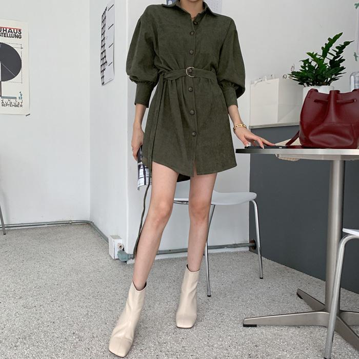 deepny-데인트골덴벨트원피스♡韓國女裝連身裙