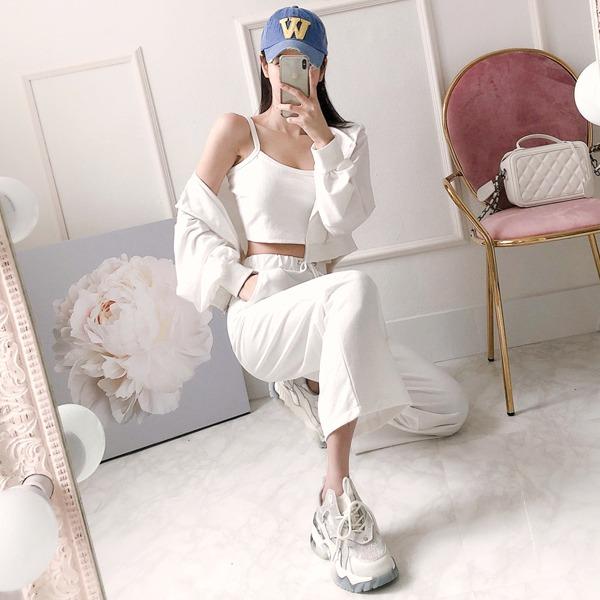 babinpumkin-이지머스트 트레이닝 세트(집업+나시+팬츠)♡韓國女裝套裝