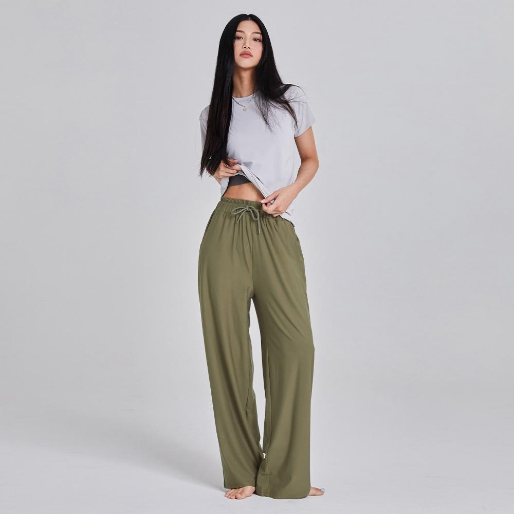 skullpig-마일드 와이드팬츠 올리브♡韓國瑜伽女裝褲
