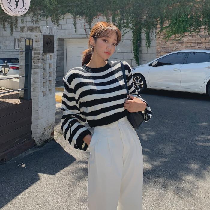 theresheis-디오즌 크롭 니트♡韓國女裝上衣