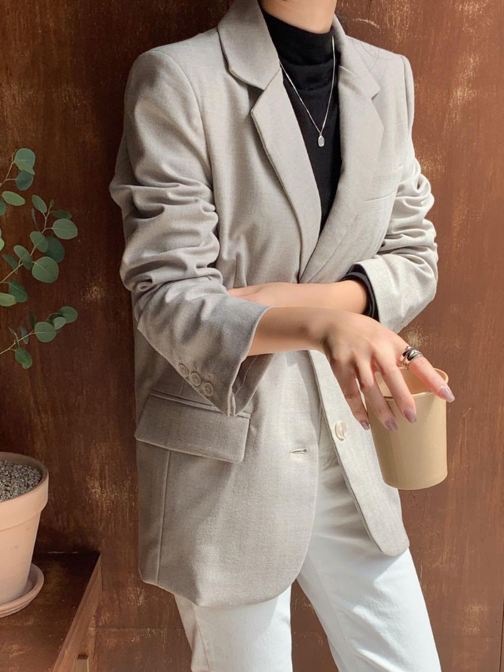 k-club-[자체제작]로하슨 헤링본 울 자켓♡韓國女裝外套