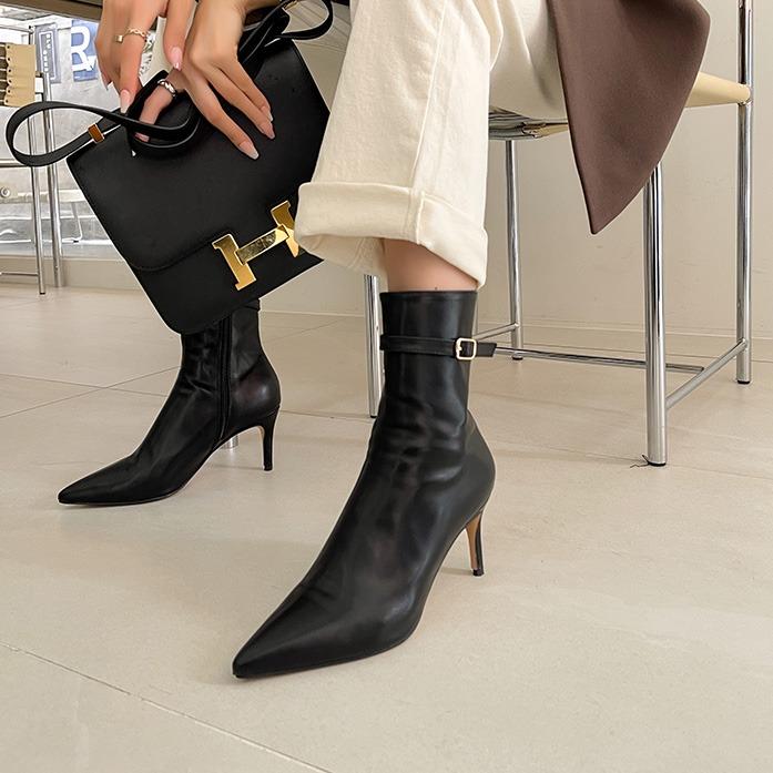 dabagirl-[핫딜]샤로텐버클슈(3219)_A3SH 잡화 슈즈 30대여성쇼핑몰 20대여자쇼핑몰 키작은여자쇼핑몰 여성의류쇼핑몰 여성화 여성슈즈 데일리룩 데이트룩 여친룩 출근룩 여자신발 블랙 브라운 가죽 레자 레더 힐 구두 부츠 부티♡韓國女裝鞋