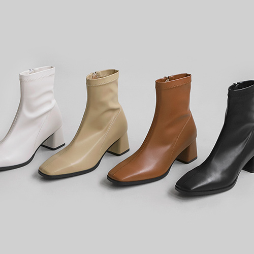 sappun-렌서티 스판 앵클부츠 (5cm)♡韓國女裝鞋