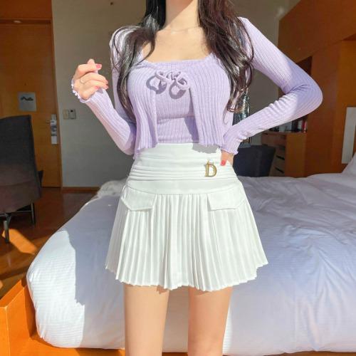 zanne-[LEXY] 코어 리본 가디건 세트 - 잔느♡韓國女裝上衣套裝