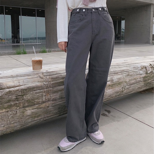 906studio-콰이어트 와이드코튼팬츠♡韓國女裝褲