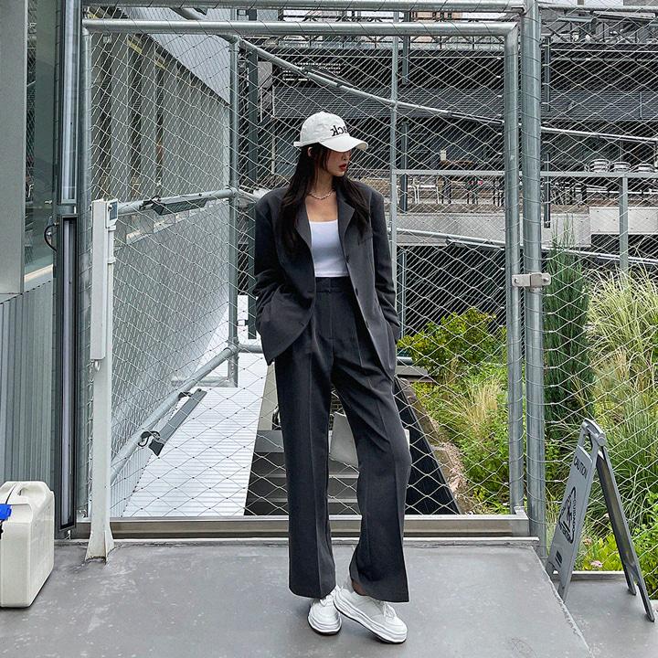 lagirl-매드핀턱슬랙스-sl♡韓國女裝褲