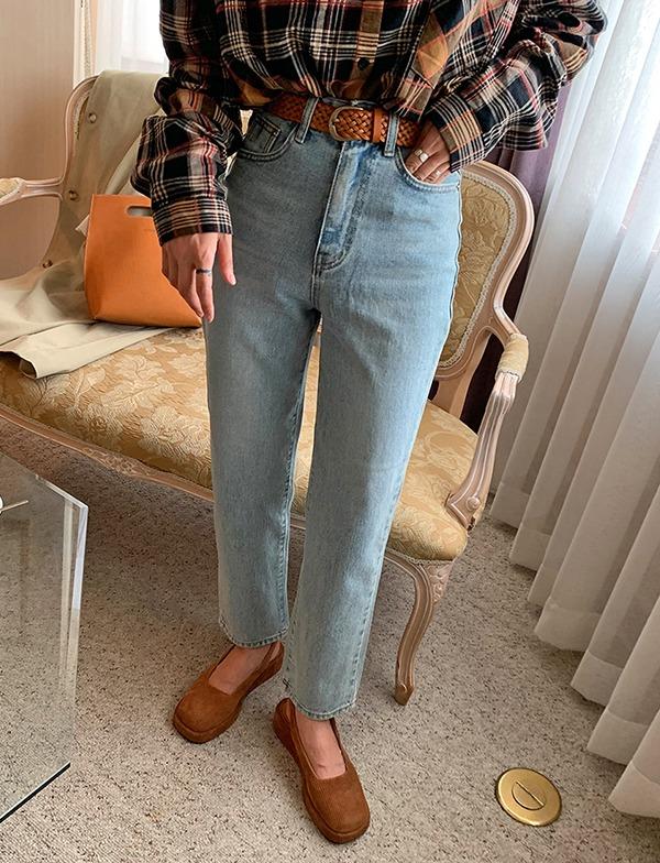 browncode-eight denim pants♡韓國女裝褲