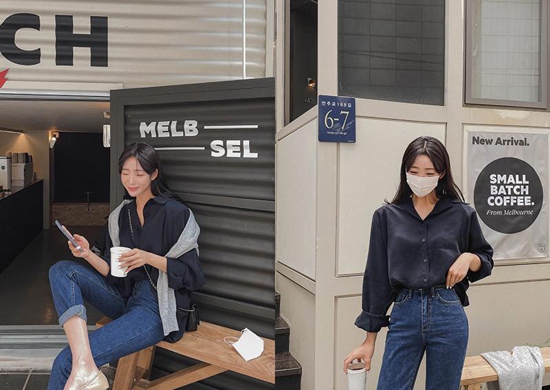 maybins-블리스 데일리 셔츠♡韓國女裝上衣