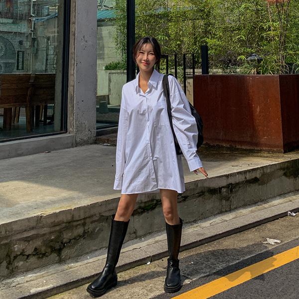 planj-로에 오버핏 셔츠♡韓國女裝上衣