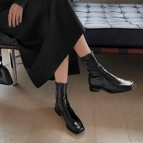 sappun-로렌티 스퀘어 앵클부츠 (2cm)♡韓國女裝鞋