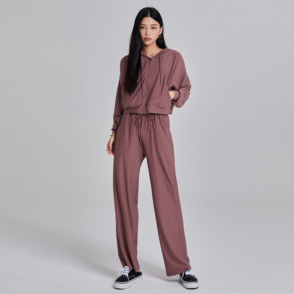 skullpig-마일드 와이드팬츠 딥핑크♡韓國瑜伽女裝褲