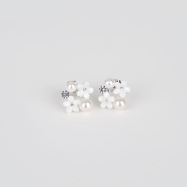 ode-[블로썸 진주 귀걸이]♡韓國女裝飾品