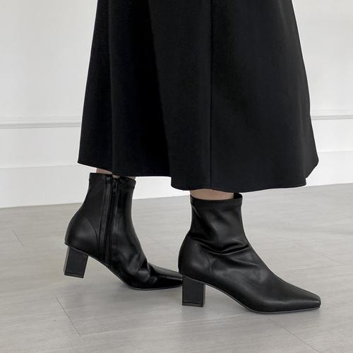 sappun-리아선 스판 앵클부츠 (5cm)♡韓國女裝鞋