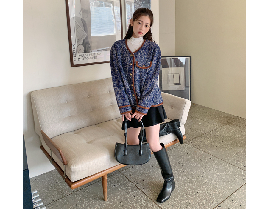 frombeginning-무드 스퀘어레더롱부츠(3color)♡韓國女裝鞋