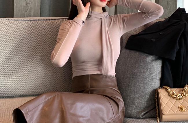 minsshop-타이트 스카프 쫀쫀티 (주문폭주!)♡韓國女裝上衣