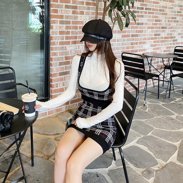 iampretty-런던 체크 투피스♡韓國女裝套裝