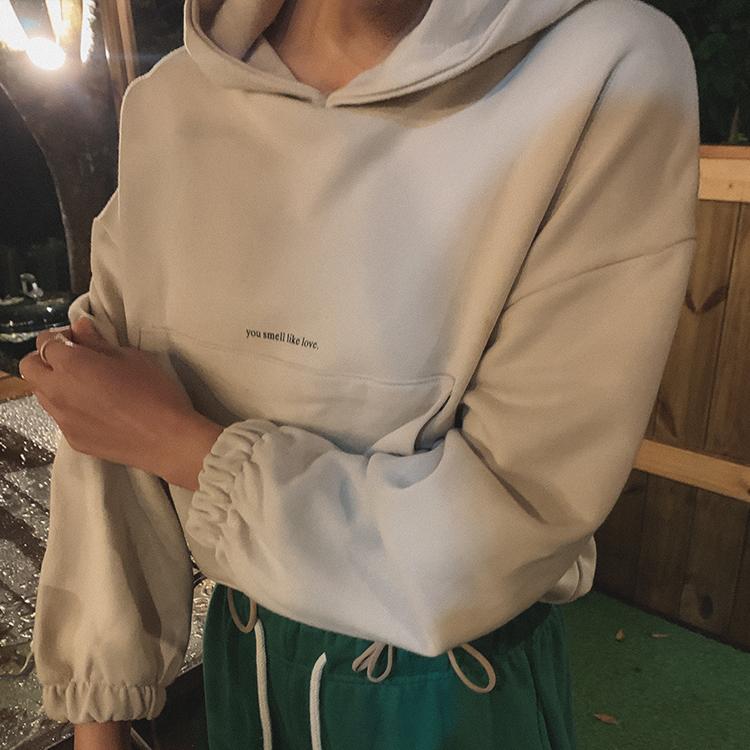 hanaunni-바린 후드 -t♡韓國女裝上衣