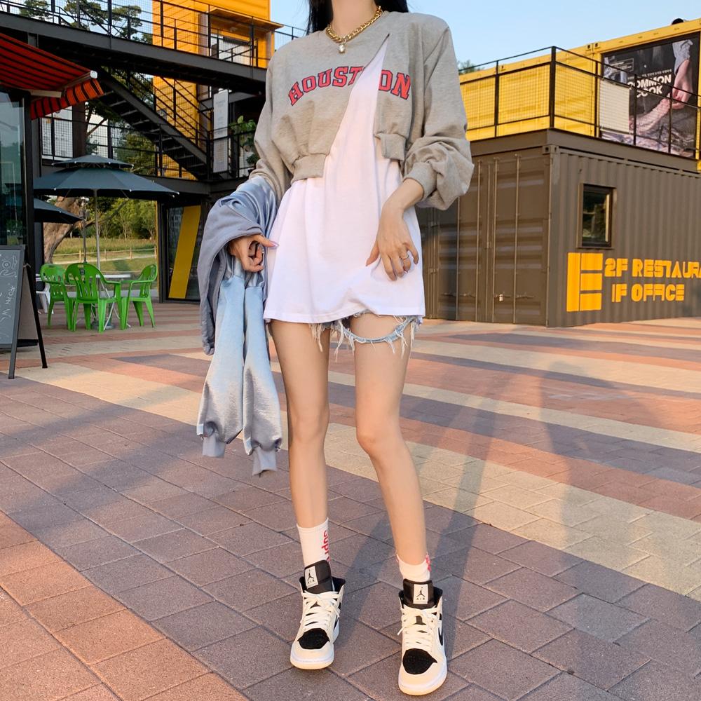 uinme-레이어 박시티 맨투맨 - [ 3color ] - 유인미레이어 박시티 맨투맨 - [ 3color ] - 유인미♡韓國女裝上衣