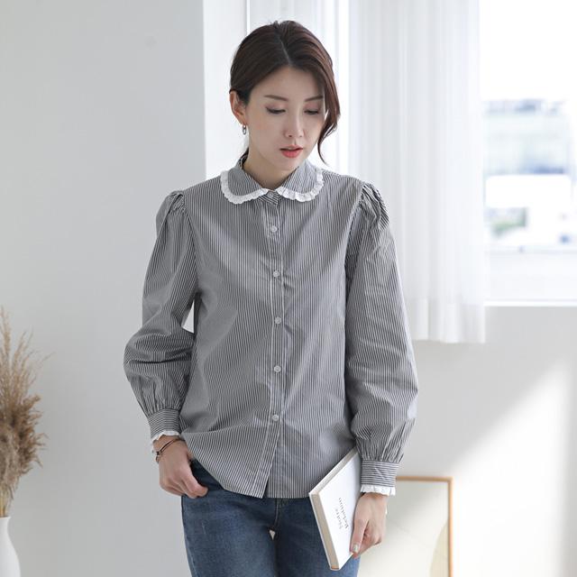 tiramisu-315수잔카라프릴남방♡韓國女裝上衣