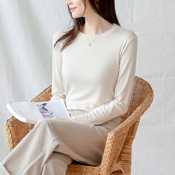 misscandy-[no.21026 톤다운컬러 레이온+스판 베이직티셔츠]♡韓國女裝上衣