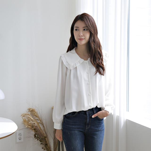 tiramisu-320와이드카라블라우스♡韓國女裝上衣