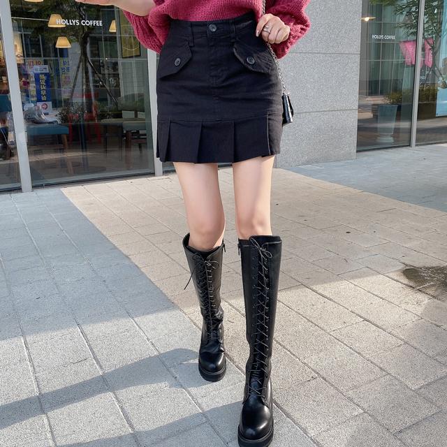 iampretty-미니플리츠 큐롯스커트♡韓國女裝裙
