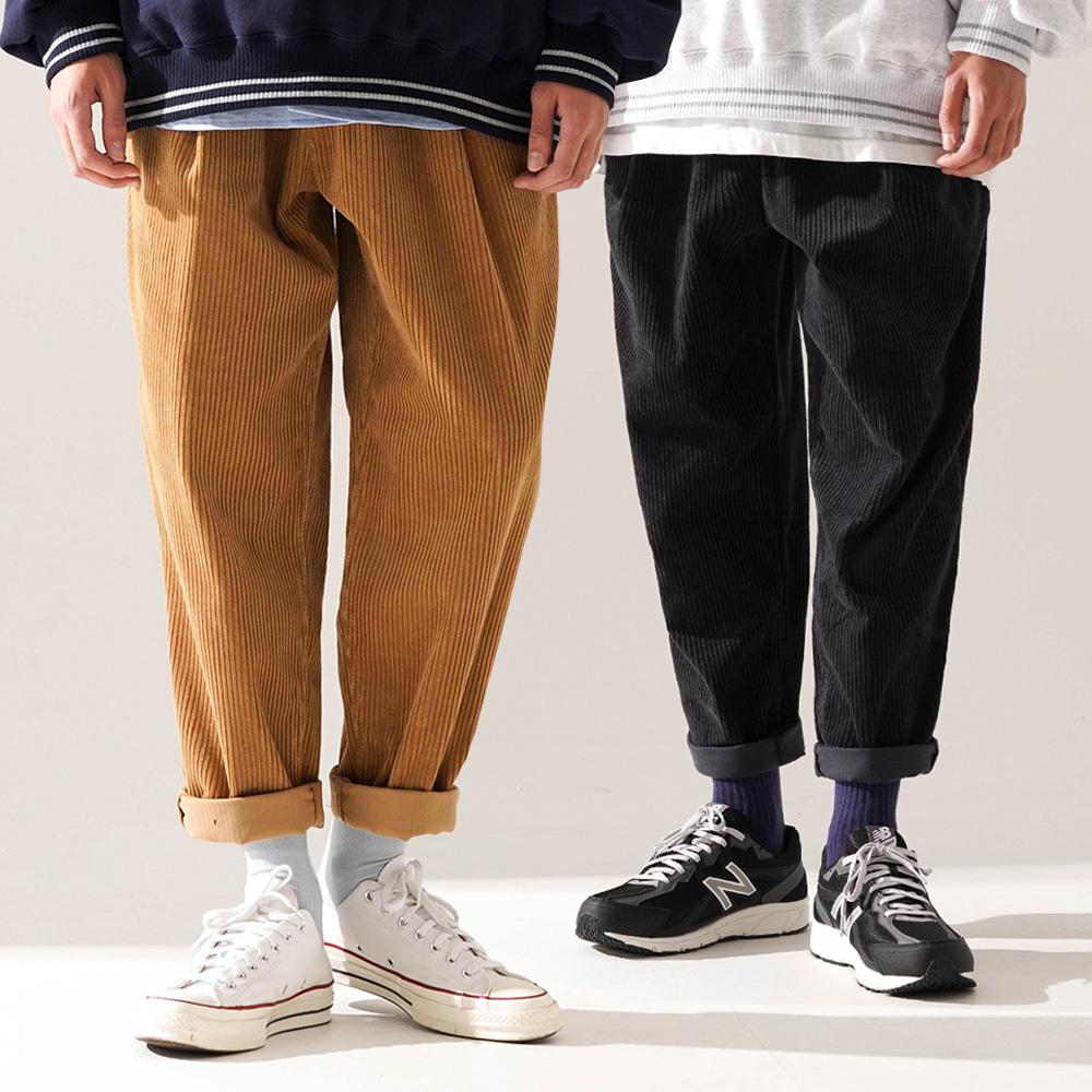 fairplay142-[[티떠블유엔] [패키지] 스무디코듀로이 팬츠 5종 2PACK JELP3401]♡韓國男裝褲子
