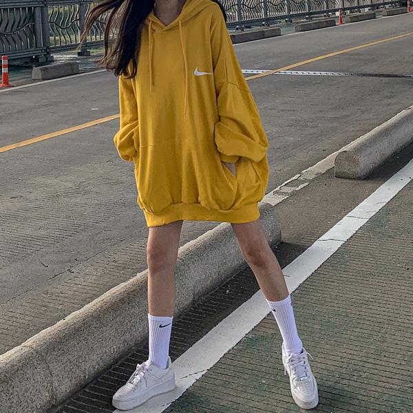 planj-데이 오버핏 후드티♡韓國女裝上衣
