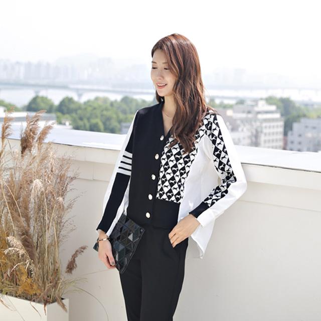 tiramisu-322나염패턴배색가디건남방♡韓國女裝外套